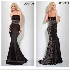 JOVANI all black strapless prom/ball gown